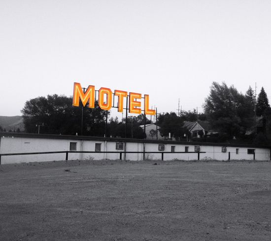 """""""Neon Proclamation"""" Old motel along historic U.S. Route 6 (not 66) in Ely, Nevada. Also known as Grand Army of the Republic Highway, honoring the American Civil War veterans. Motel Motels Motelsigns Neon Neon Sign Old Motel Selective Colorization"""