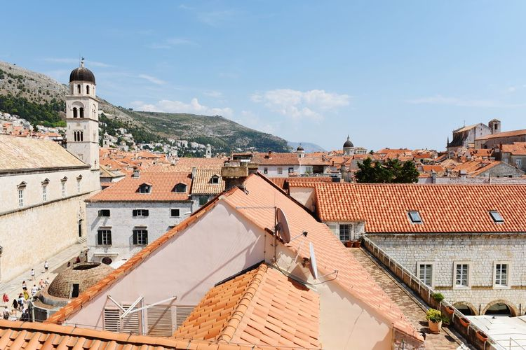 Roof Architecture High Angle View Roof Tile Building Exterior Outdoors Day Tiled Roof  No People Travel Destinations Sky Built Structure Cityscape Politics And Government Ancient Civilization Mountain Croatia ♡ Dubrovnik, Croatia Dubrovnik Landscape Summer Aerial View Town City Clear Sky
