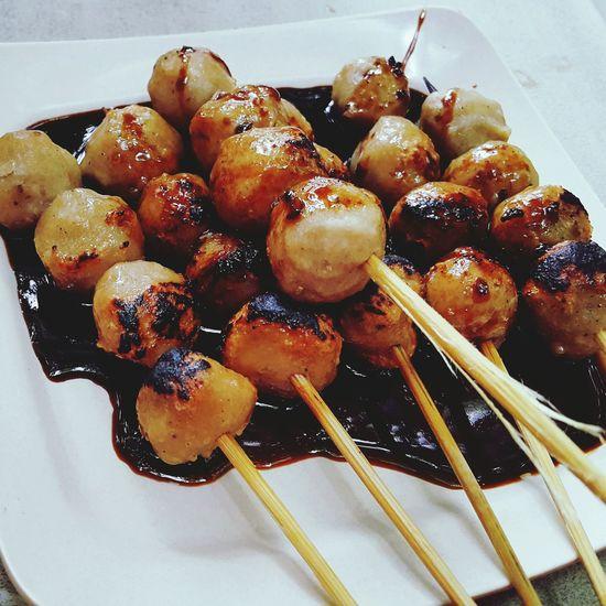 Grilledmeatballs Foodporn Awful Meatball Delicious Indonesianfoodstreet Indonesianfood Culinary