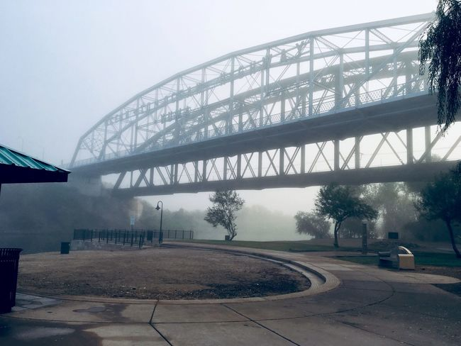 Side Angle of the Ocean to Ocean Bridge in the Fog✨ Nature Walk Thru The Park Ocean To Ocean Highway Ocean To Ocean Bridge IPhone Photography Playing With Filters Foggy Morning Me At Peace Bridge Photography Sidewalk Photograhy Enjoying The View Built Structure Architecture Tree Nature Connection Bridge Sky Bridge - Man Made Structure Water Fog Transportation Outdoors