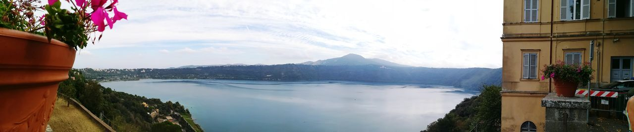 Lake Albano in Castel Gandolfo Fog On The Lake Fog Albano Lake Lazio Italy Morning Castel Gandolfo  Water Mountain City Lake Reflection Sky Architecture Panoramic Calm Scenics Tranquil Scene Horizon Over Water
