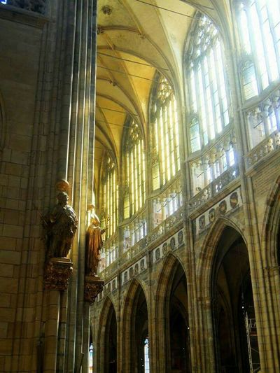 Prague Prague Castle Visiting Prague Old Church Church Sun Light Light And Shadow Light Sightseeing Full Of Light