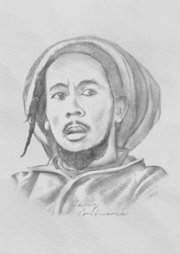 learn to drawing BobMarley♡ Reggae Sketch Art, Drawing, Creativity 4:20