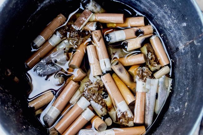 So glad I quit smoking! Nasty Habit Smoking Cigarettes Kill Cigarette  Cigarette Butts Tar Ash Ashtray  Taking Photos Disgusting  Killers