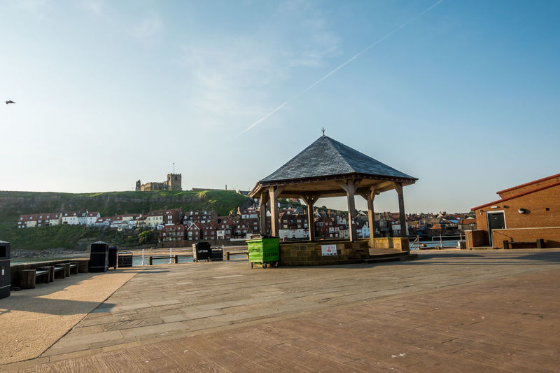 Whitby Whitby Harbour Whitby View Whitby North Yorkshire North Yorkshire Coast North Yorkshire Seaside Town Seaside Band Stand Built Structure Architecture Building Exterior Sky Cloud - Sky Place Of Worship Travel Destinations Town Blue Building Outdoors No People Day Travel