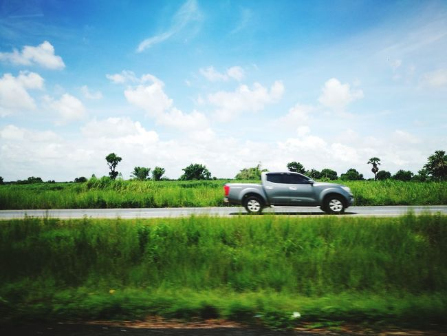 On the way to Cambodia. Agriculture Sky Backgrounds Rural Scene Cereal Plant Grass Outdoors Tree No People Car Happiness Road Trip ♥ Love Photograph Traveling Photography