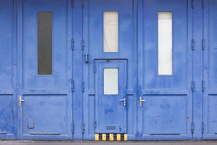 Full Frame Shot Of Blue Doors