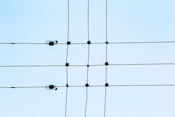 Deceptively Simple Electricity  Electric Wire Electricwires Sky_collection
