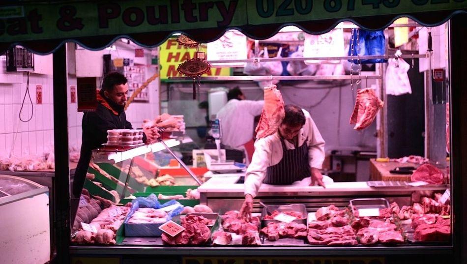 Store Butcher Meat Shop Men Millennial Pink EyeEm LOST IN London Neon Life