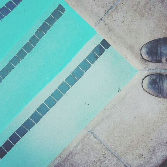 Swimming Pool Leather Boots Summer Enjoying Life