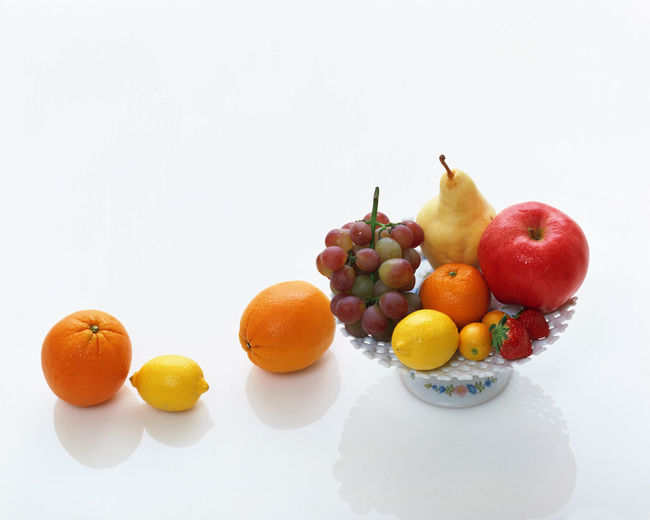 Various fruits in plate