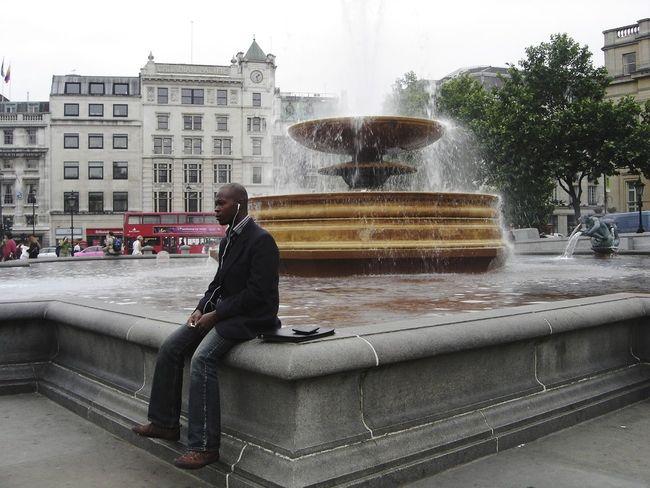 London London Lifestyle Londonthroughmycam Londoners Thinking Time Thinking Man Thinkingabout London Life Londonstreets Fountain Postcode Postcards