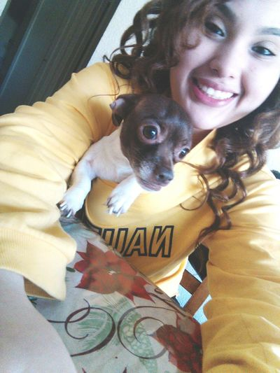 Hi! Cheese! Just Smile :) Me And My Dog Chikis  Stephanie Luna