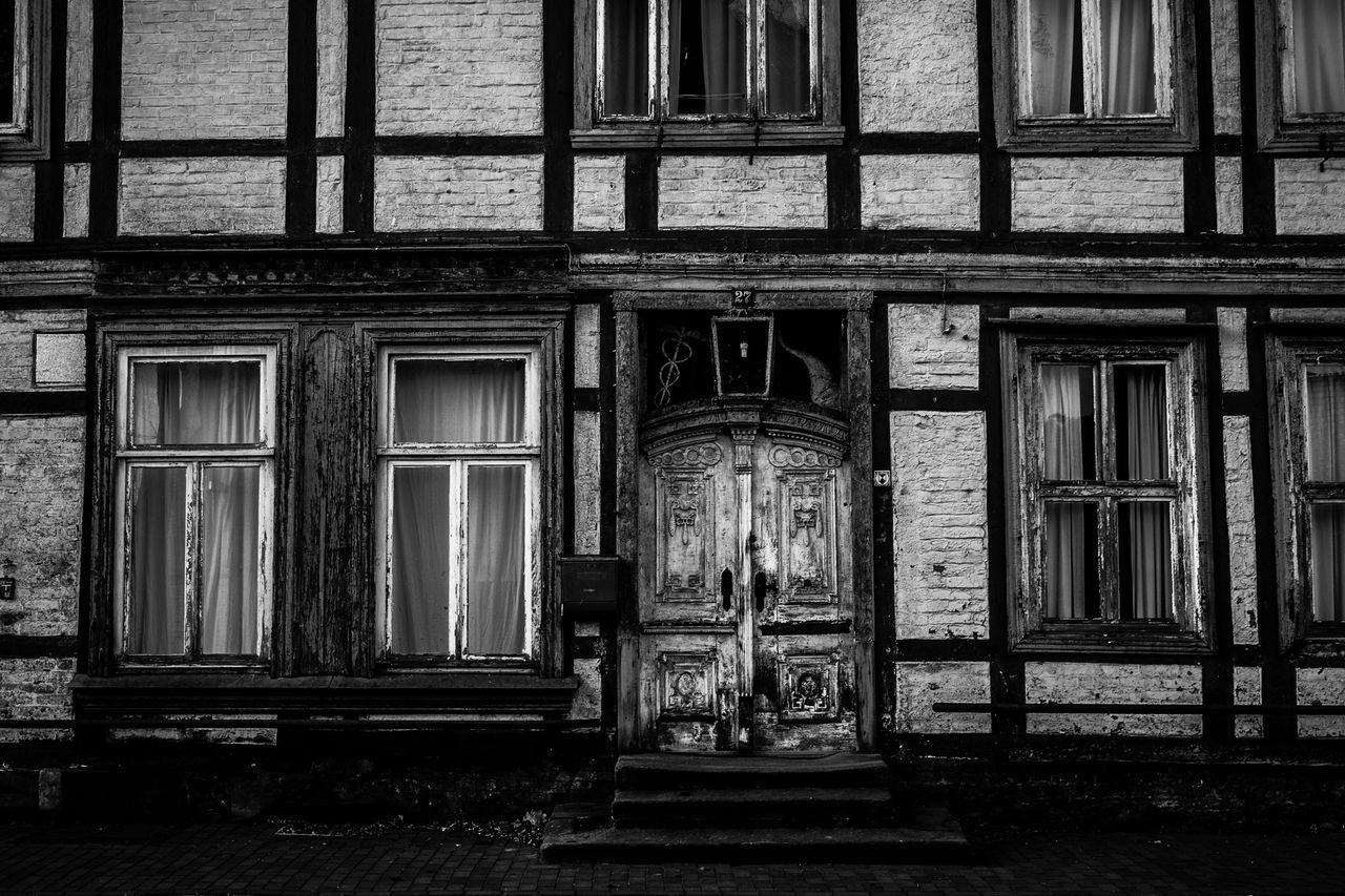 architecture, built structure, window, abandoned, real people, building exterior, one person, day, outdoors, full length, people