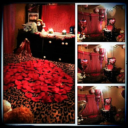 I surprised my girl today a day early from Valentine's but idgaf lol she loved her suprise (: ♡ I love my babygurl. everything was perfect. (: