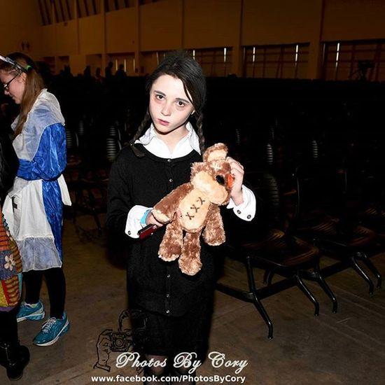"Wednesday. ""Are they made from real girl scouts?"" Adamsfamily Wednesdayaddams WednesdayAdams Grandrapidscomiccon"