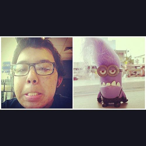 Me and my EvilMinion look so much alike Despicableme McdoHappyMeal Happymeal InstaToys GPOY