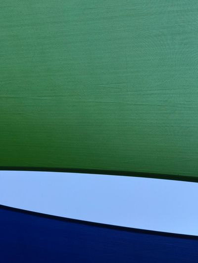 Dreifarbig Sunshine Sail Shades No People Blue Textured  Green Color Day Backgrounds Close-up Architecture Outdoors Sky