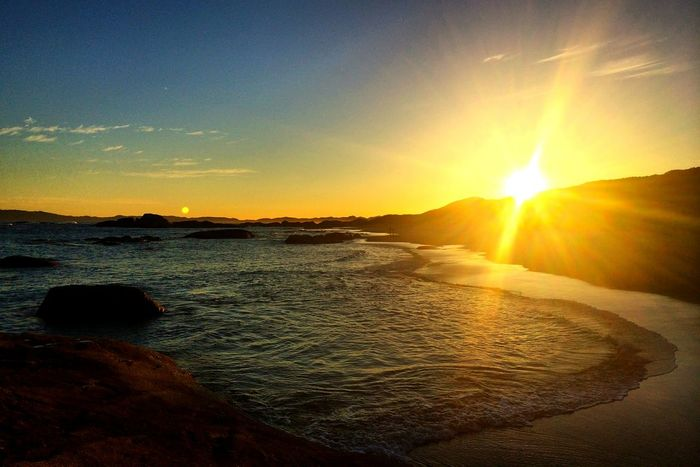 Sunset Sunlight Beauty In Nature Sky Nature Water Scenics View Australia Western Australia Greens Pool Great Southern Ocean