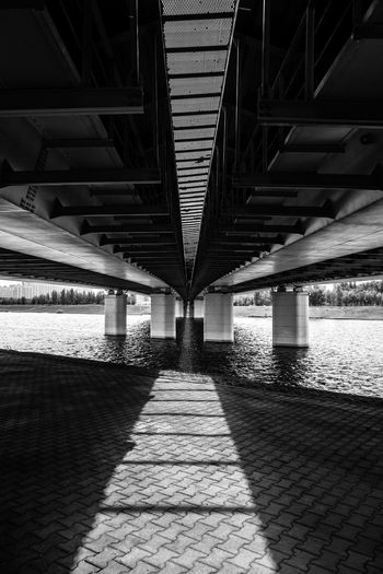 Kazakhstan Astana Bridge Blackandwhite Black And White Bnw Construction Simmetrical Simmetry Modern Above Underneath Bridge - Man Made Structure Shadow Ceiling Symmetry Architecture Built Structure HUAWEI Photo Award: After Dark Be Brave EyeEmNewHere My Best Travel Photo A New Beginning My Best Photo