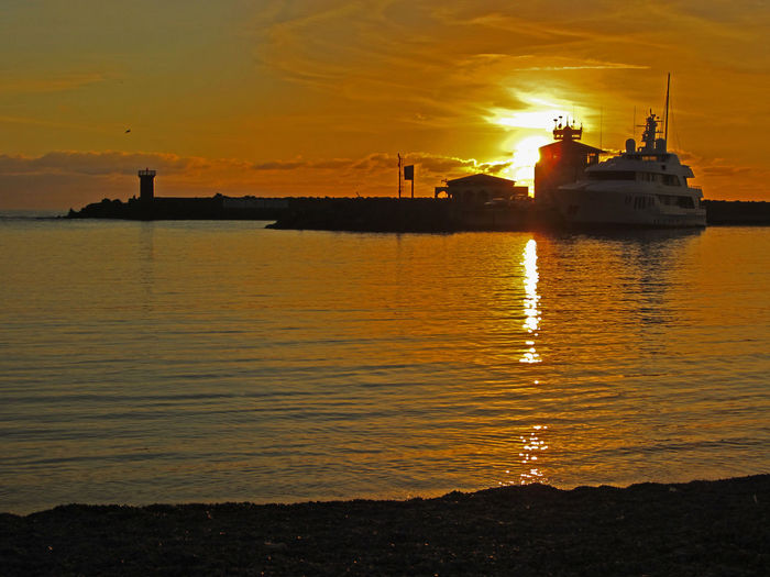 Orange Sky Italy Nautical Vessel Navalport Orange Color Reflection Sea Sky Sunset Sunset #sun #clouds #skylovers #sky #nature #beautifulinnature #naturalbeauty #photography #landscape Water