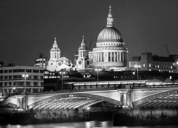 St. Paul's Cathedral black and white friday Architecture Built Structure Building Exterior Night City Travel Destinations Building Religion Illuminated Travel Sky Nature Place Of Worship Belief Transportation No People Dome Tourism Spire