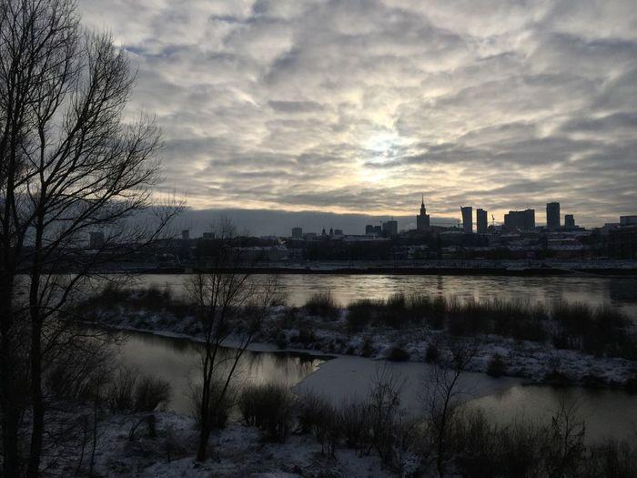 Warsaw Poland Winter Cloud - Sky Travel Destinations