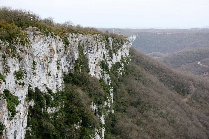 view of the Roc D'Anglars, France Arid Climate Canyon Cliff Day Eroded Forest France Geology Landscape Of France Landscape_photography Moss Mountain Nature Panorama Physical Geography Point Of View Remote Rock Rock - Object Rock Formation Rocky Rocky Mountains Rough Trees And Sky Winter