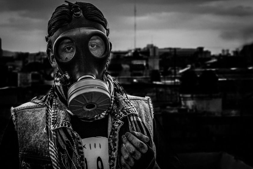 Anthrax Porttrait Gas Mask City Black And White Black & White Black And White Photography