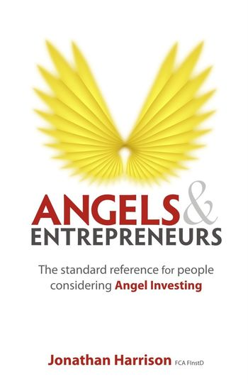Cover of Angels & Entrepreneurs publication Angels Angels Wings Composition Entrepreneur Entrepreneurship GB London Advice Advisory Angel Investing Book Book Cover Book Cover Design Close-up Communication Full Frame Handbook Indoor Photography Investing No People Red And Yellow Colour Text Uk White Background