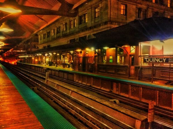 Chicago Best L Stop Illuminated Railroad Track Transportation Railroad Station Railroad Station Platform Night Rail Transportation Public Transportation Travel Building Exterior Outdoors Subway Station No People Pivitol Ideas Public Transport City Life Drama Pivitol Ideas TakeoverContrast