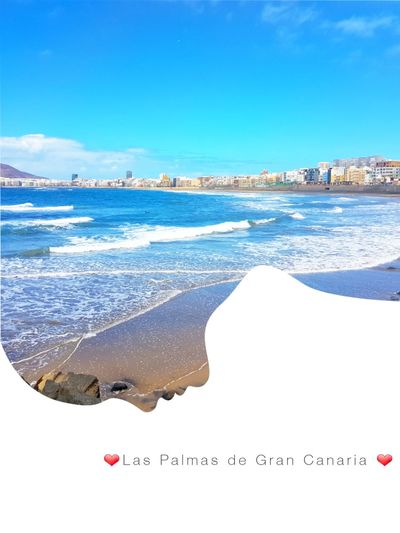 Love. Nature Sea Water Sky Blue Beach Summer Travel Destinations Landscape Nature Wave Beauty In Nature Swimming Day SPAIN Islascanarias Island The Great Outdoors - 2017 EyeEm Awards