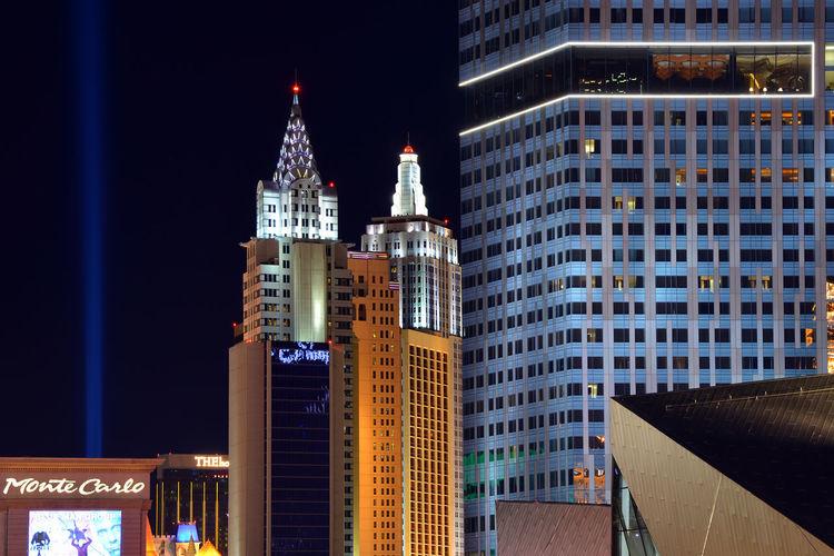 Skyward Architecture Night City Modern Urban Light Building USA Illuminated Skyscraper Las Vegas No People Building Exterior 840US_LASVEGAS_AK 840US_USA_AK