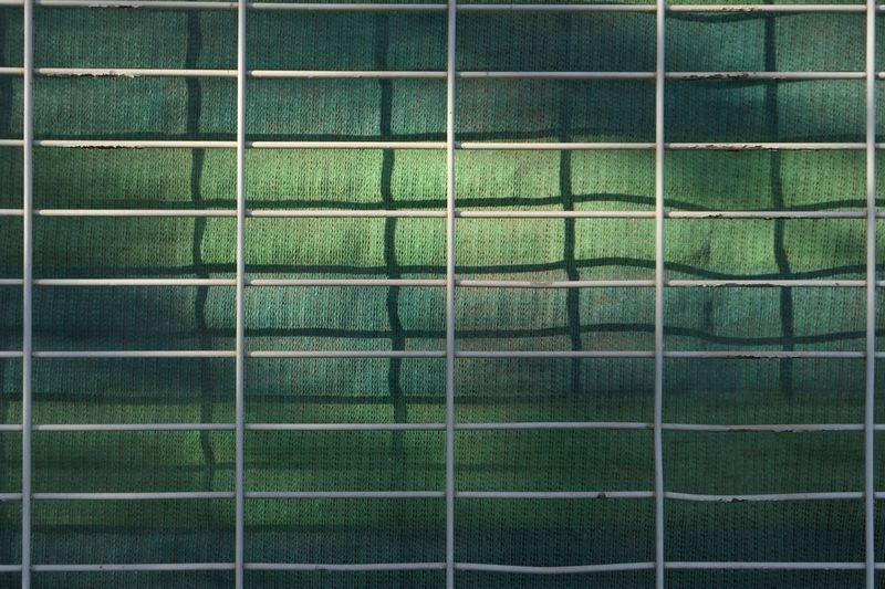 Full frame shot of metallic railing