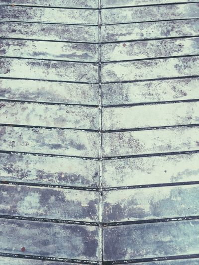 Full Frame Backgrounds Pattern Textured  No People Day Built Structure Close-up Architecture Wall - Building Feature Wood - Material Outdoors Footpath Flooring Nature Metal Building Exterior In A Row Wall Protection