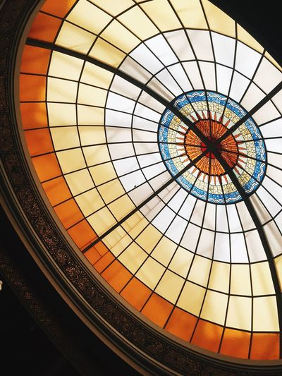 Built Structure Architecture Indoors  Architectural Feature Dome Skylight Pattern Ceiling Low Angle View No People Cupola Day Modern Cealing Colors Indoor Antique