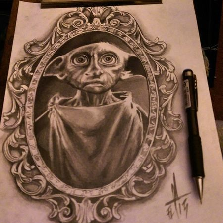 Dobby Torstenmatthes Mrttattoo Check This Out Tattooartist  Fullcustomtattoo Freehand Drawing Harrypotter
