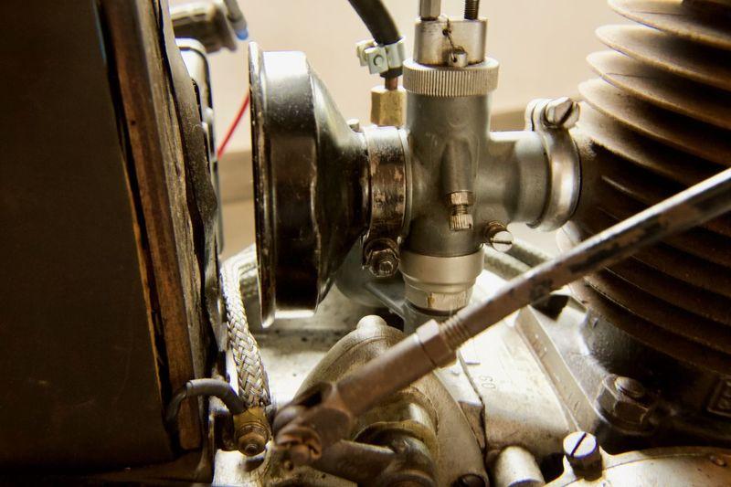 Engine Part Carburator Metal Machine Part No People Indoors  Close-up Steel Old Engine