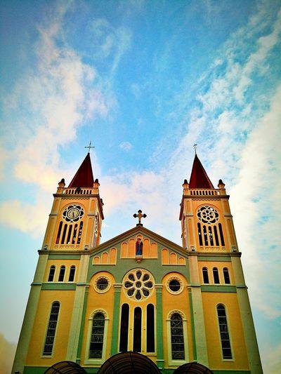 Baguio City A Catholic Church Churches Sky And Clouds