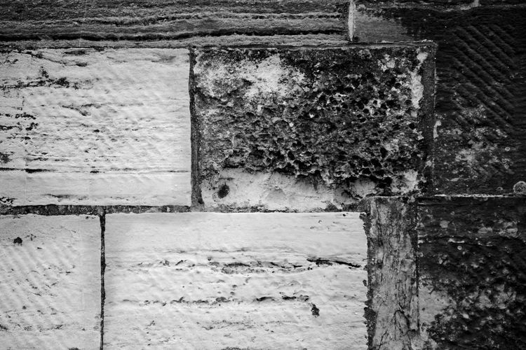 Tower Stonework Built Structure Wall - Building Feature Architecture No People Old Weathered Damaged Outdoors Building Exterior Wall Decline Textured  Stone Wall Blackandwhite Black And White