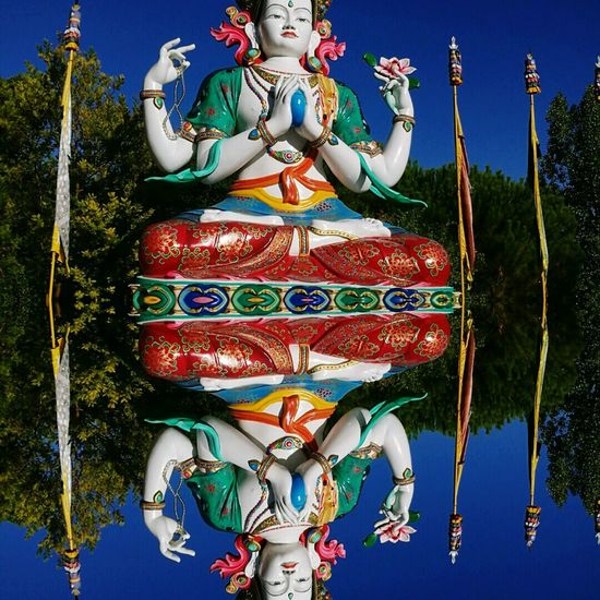Two Is Better Than One Sky Buddha Statue Buddhism