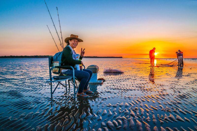 Fishing in Buffalo Creek, Darwin NT Fishing HDR Hdrphotography Beachphotography Creative Light And Shadow Editing