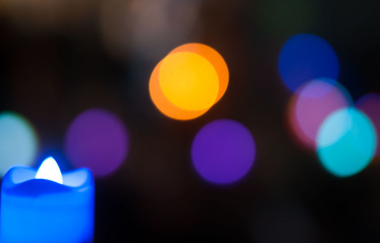 Hanukah party in kindergarten Celebration Israeli Jewish Blue Bokeh Bokeh Photography Celebration Event Close-up Color Colorful Defocused Hanuka Hanukkah Illuminated Israel Jewish Holiday Kidergarten Light And Shadow Night No People Outdoors Party