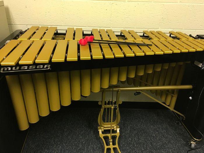 Vibraphone Music No People Seat Musical Instrument Piano Yellow Musical Equipment