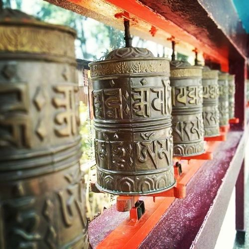 Tibetan prayer mills