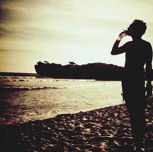 Sunset Silhouettes Baron Beach Life Is A Beach Freedom