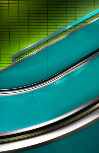 Escalator At Subway Station
