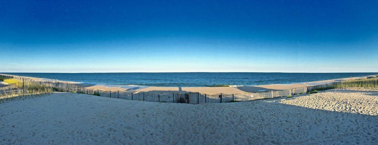 A panorama of the beach in Mantoloking, NJ. Atlantic Ocean Beach Jersey Shore Ocean Panorama Panoramashot Skty Sky Summer The Great Outdoors - 2017 EyeEm Awards