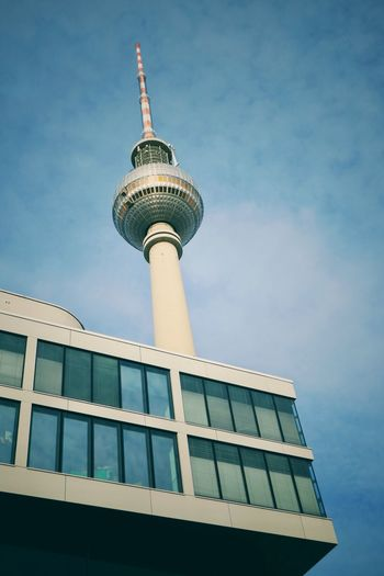 Low angle view of television tower