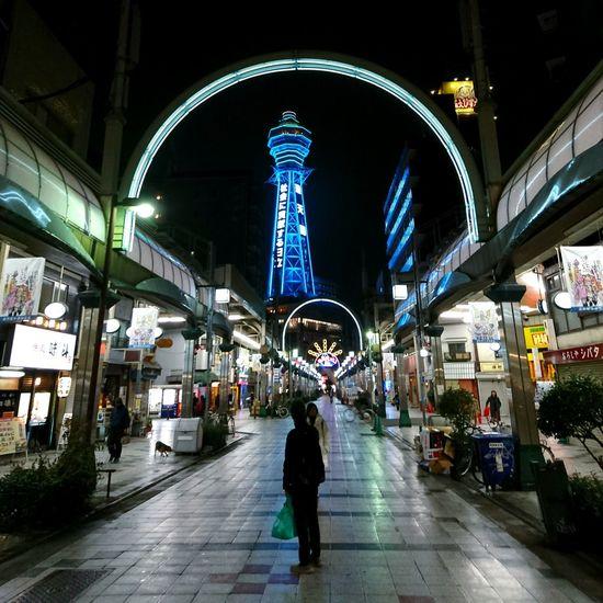 OSAKA Japan Tutenkaku 大阪 日本 通天閣 商店街